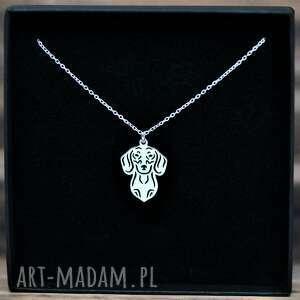 naszyjniki jamnik -wisiorek srebrny pr 925, pies, jamnik, wisior
