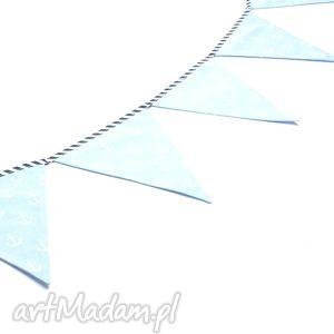 ręcznie wykonane dla dziecka girlanda proporczyki chorągiewki 160 cm kotwice