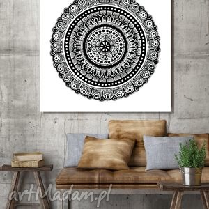 Mandala 50x50cm, plakat, rysunek, design