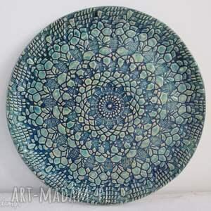 koronkowa patera ceramiczna, talerz, dekoracyjny, ceramiczny, koronkowy, ceramika
