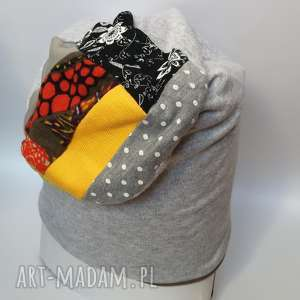 czapka materiałowa wzorzysta wiosna jesień dresowa - czapka, dresowa, etno, sport
