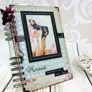 notatnik pani domu - pin up girl, notes, pani, domu, pin, up