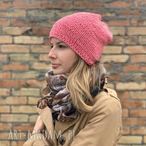 bezszwowa bawełniana czapka, czapka, na drutach