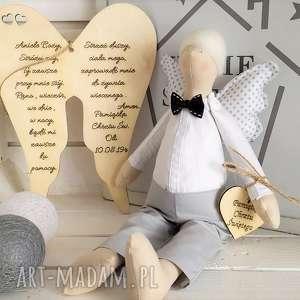 handmade lalki anioł lalka na chrzest święty