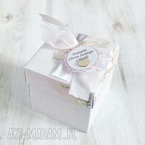 po-godzinach pudełko kartka chrzest święty - dla dziewczynki