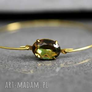 oliwa brązowa bransoletka, kamień, zieleń, szmaragd, oliwa, kolor