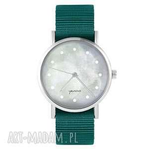 ręcznie wykonane zegarki zegarek yenoo - szary morski, nylonowy