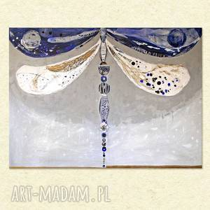 obraz ręcznie malowany na płótnie - ważka