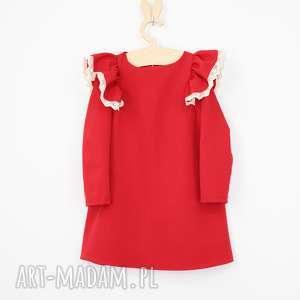 handmade ubranka sukienka motyl z koronka