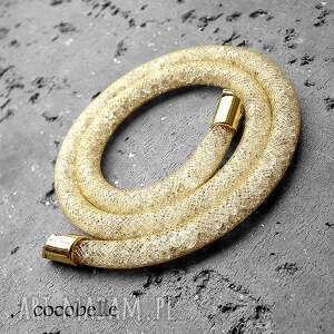 shimmer-54cm naszyjnik z krysztaŁkÓw/stardust, kremowy, ecru, komplet, elegancki