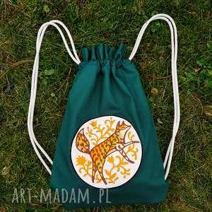 hand-made plecak worek lis