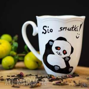 Kubek panda na dobry dzień, personalizowany malowany ręcznie