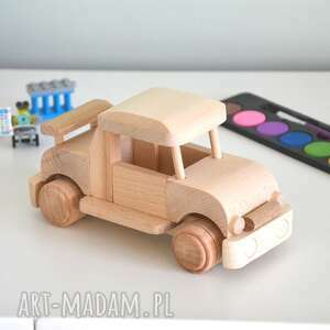 samochód drewniany, samochód, auto, traktor, przyczepka, pojazd, pod