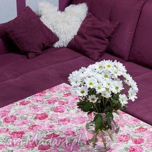 Obrus do jadalni w Róże , obrus, stół, jadalnia, róże, nowoczesny, kwiatowy