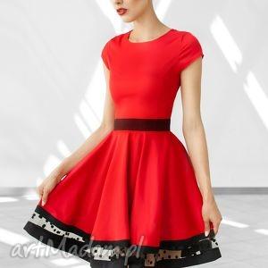 sukienka rozkloszowana z ozdobnym pasem pag, sukienka, rozkloszowana, wesele