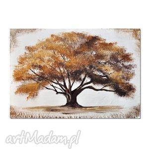 obrazy drzewo, nowoczesny obraz ręcznie malowany, obraz, ręcznie, malowany