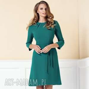 sukienka nicole morska zieleń roz 38 40, sukienka-do-pracy, elegancka-sukienka