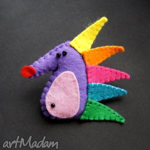 zabawny jeżyk, filc, lekki, kolorowy