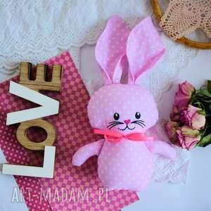 ręcznie wykonane maskotki króliczek do tulenia - olcia