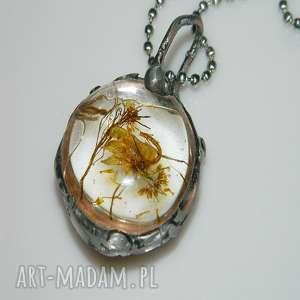 szklane roślinne terrarium, wisior, wisior-miedziany, unikalna-biżuteria