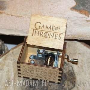 dekoracje drewniana pozytywka game of thrones, pozytywka, grawer, tron