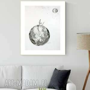 plakaty grafika 40x50 cm wykonana ręcznie, abstrakcja, styl skandynawski