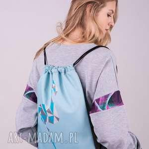 Plecako-worek/niebieski, worki, bluzy, spodnie, torby, bluzki, kurtki