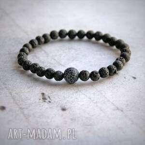 agat - kamień równowagi męska bransoletka
