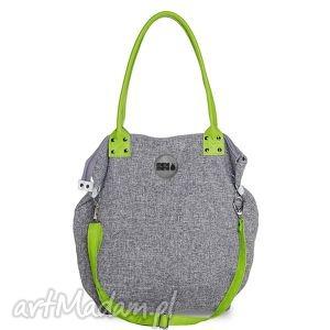 na ramię torba worek basmati limonka, duża, zakupy, podróż