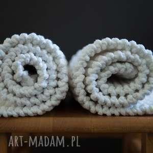 dywaniki bielaki, sznurek, bawełna, druty, rękodzieło, prezent, dekoracja dywany dom