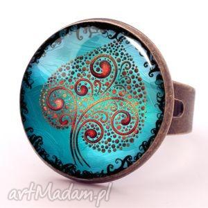 ręczne wykonanie pierścionki drzewo miłości - pierścionek regulowany