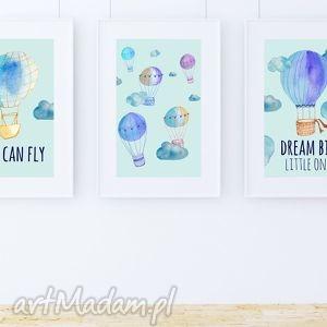 handmade pokoik dziecka zestaw plakatów balloons a3