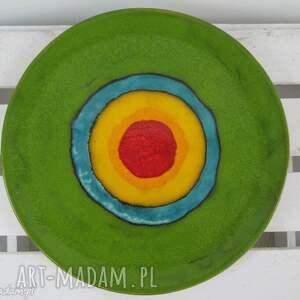 power color patera ceramiczna, talerz, ceramiczny, dekoracyjny, artystyczny, kolorowy