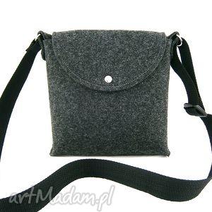 na ramię trip anthracite bag, torebka, listonoszka, filc, codzienna, podręczna