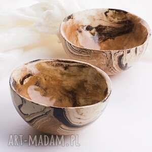 ceramika dwie miseczki, miseczka, miska, ceramika, zestaw, naczynia, prezent