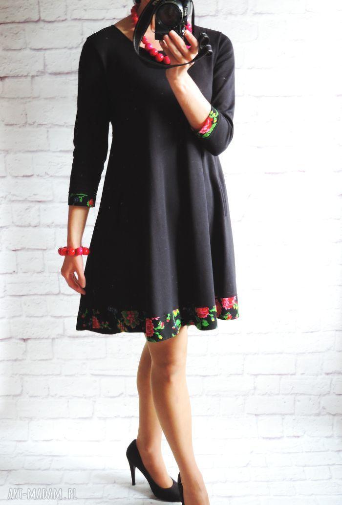 oryginalne sukienki sukienka dresowa trapezowa