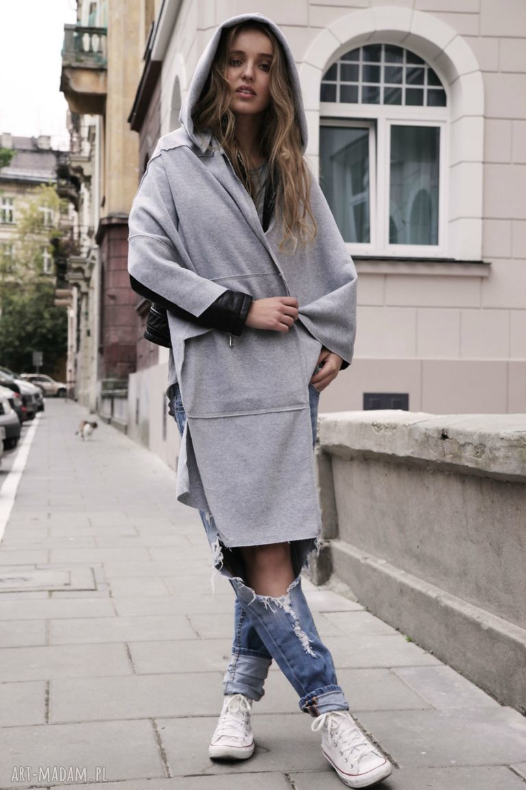kapuza bluzy czarne tuba komin szal origami dress