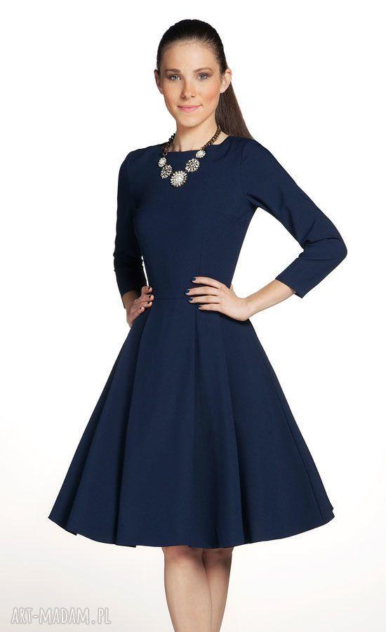 hand-made sukienki sukienka zuza midi granat