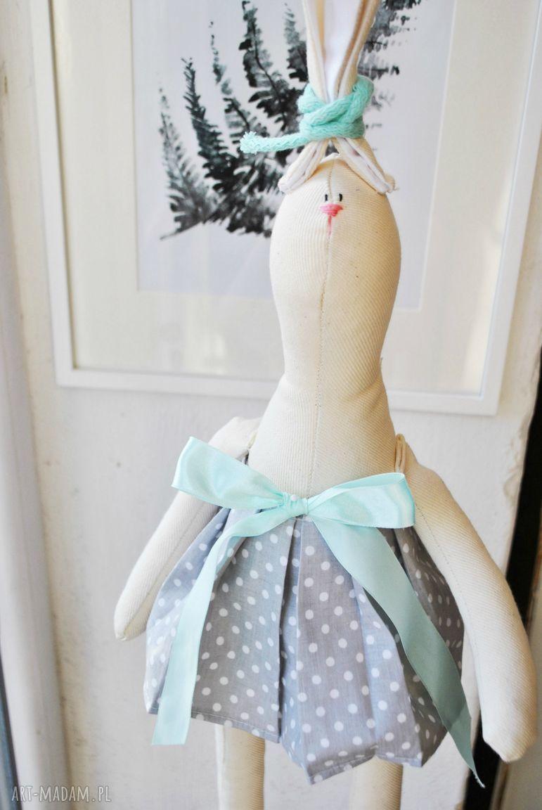 handmade pomysł na upominek pani królik szmacianka prezent pod choinkę dla dziewczynki