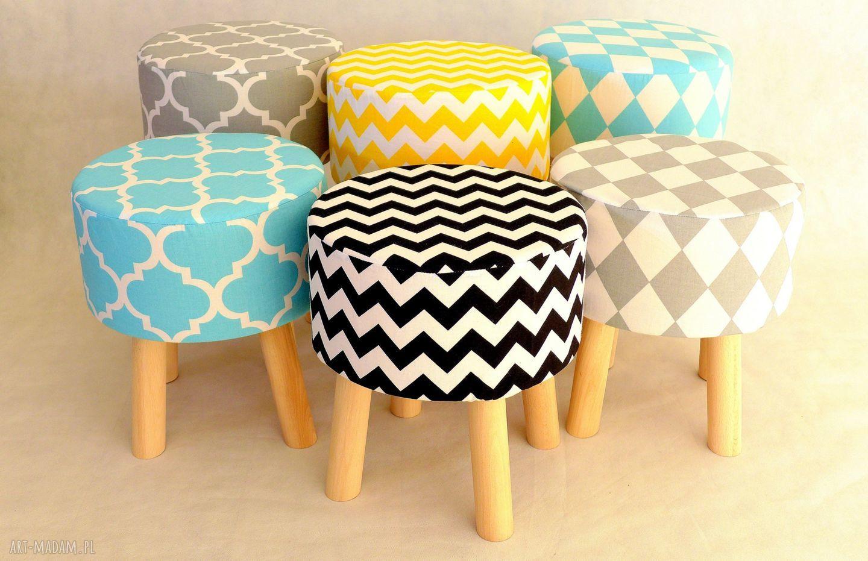 handmade pomysł na upominek na święta stołek fjerne s (szary romby)