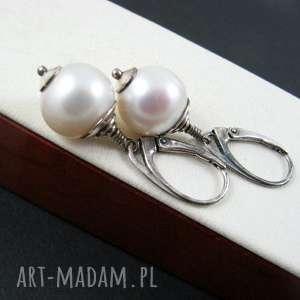 duże perły kolczyki, perły
