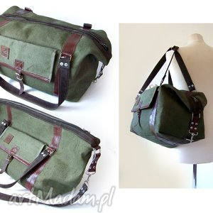podróżne torba podróżna brezent skóra, podróż, podróżna, waliza, brezent, militarny
