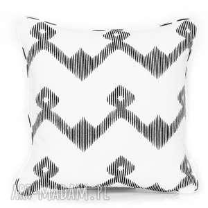poduszka flourishes - black 50x50cm, poduszka-ozdobna, poduszka-dekoracyjna