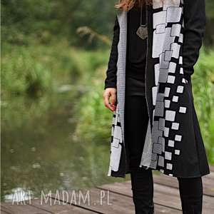 płaszcz, narzutka na jesień - długi, płaszcz, narzutka, wdzianko, dresowe
