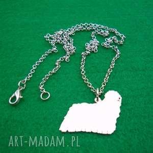 naszyjniki naszyjnik owczarek węgierski komondor pies nr 99, naszyjnik, z
