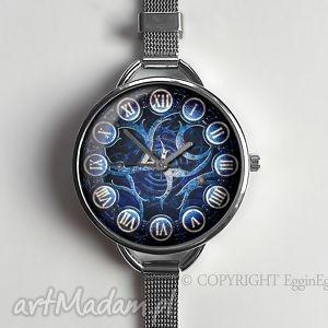 steampunkowy zegar z dużą tarczką - 0505ws - zegarek, steampunk, prezent