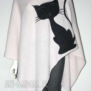 Prezent Ponczo filcowane wełną, koty, filcowanie, wełna, prezent, urodziny