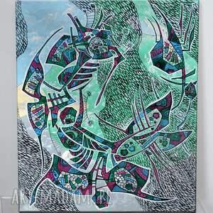 dom volans, dom, abstrakcja, 4mara, ryby, na ścianę, prezent