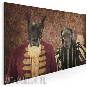 vaku dsgn obraz na płótnie - lordowie hipster 120x80 cm 24301, psy