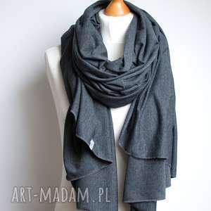 Prezent Szal, szalik bawełniany GRAFITOWY, pomysł na prezent, szal, szalik, bawełna